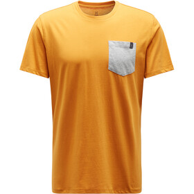 Haglöfs Mirth Camiseta Hombre, desert yellow/grey melange